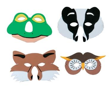 Mask Set - Badger, Fox, Frog & Owl