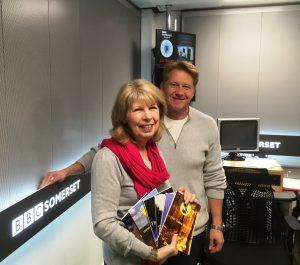 Sue with Simon at BBC Somerset